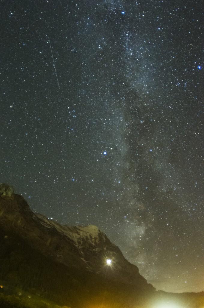 """Северная стена Эйгера и галактика """"Млечный путь"""""""